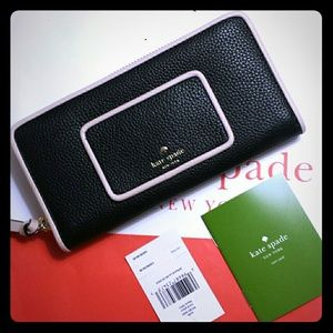 Kate Spade Neda Ward Place Leather Wallet NWT Zip